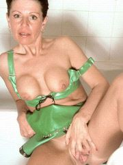 Busty 40-something babe in the shower
