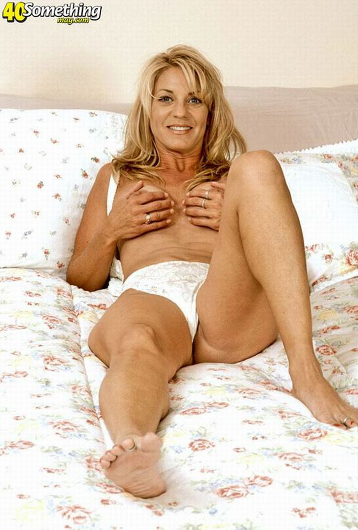 Milf over 60 in collant with a little cum on skirt