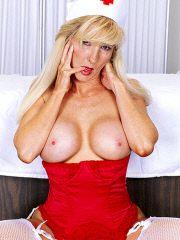Mature blonde Nurse Athena