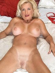 Blonde granny with huge pair of tits