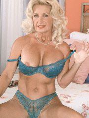 Grandma and her glass dildo