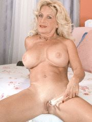 Grandma and her glass dildo