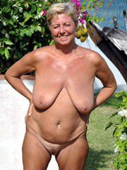 Old american street whores love to walk absolutely naked..