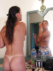 Private photos of naked mature wife in the bathroom