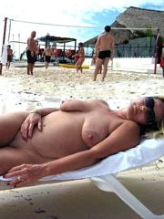 Naked housewives naughty on the nudist beach