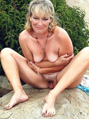 Mature ladies without panties, hot collection of amateur..