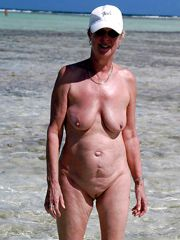 Nude granny outdoor, mature tits naked photos