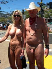Mature aged nudists in Turkey, she's not shy because her..