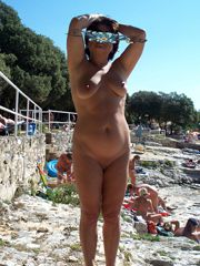 Amateur photos from holiday at the sea, Big tits milf..