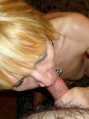 Blonde mature sucking POV, homemade oral sex pics
