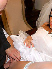 Jayden James is a sluty bride that needs to ride one more cock before getting married, so why not the..