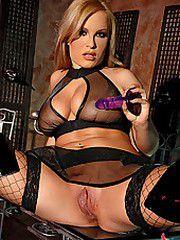 Jessica Moore poses in latex