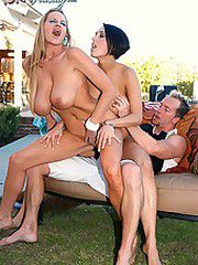 Kelly Madison and Dylan Ryder went to a bbq and stuffed..