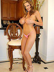 Kelly Madison's little pink panties come off.