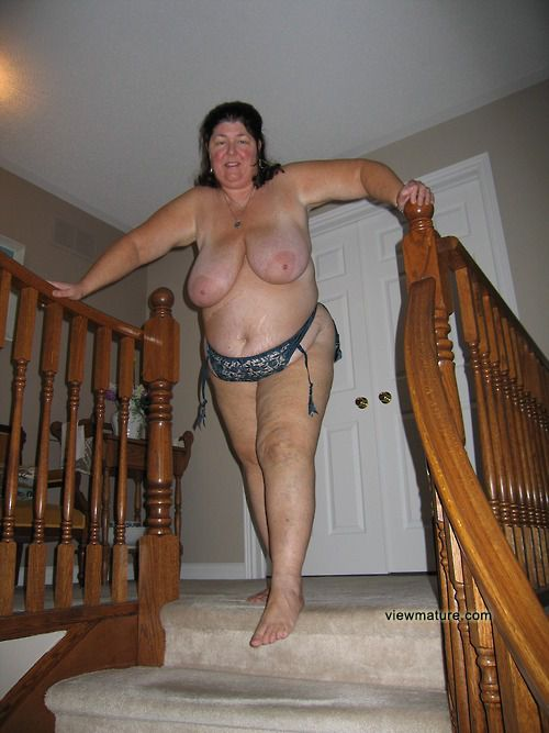 Mature caught nude