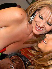 Monica and Kelly lick each others sweetheart for..