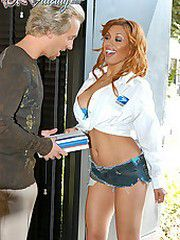 Ryan fucks the postal worker Sienna..
