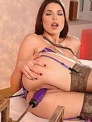 Sexy Zafira with fuck machine