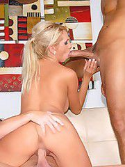 Super hot big tits blonde katie stark takes on 2 cocks in..
