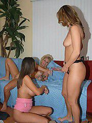 Super hot n horny milfs play with each other and their new..
