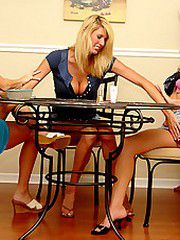 Tarah and her hot gfs get together for some hot milf games..
