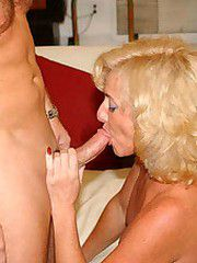 Thick blonde milf gets comfortable with..