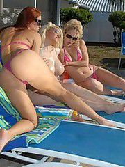 This milf pool party gets hotter than..