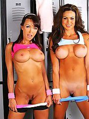 Workout babe bryce and her milf friend..