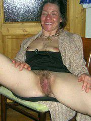 Mature old wives posing nude, Hairy..