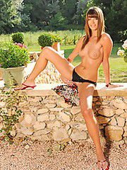 Alise gets naked outdoors