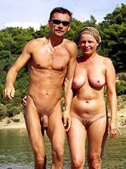 Naked mature pussies expoed on the public place