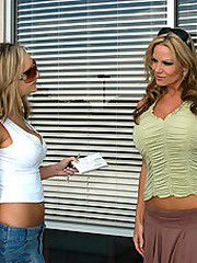 Amy Reid and Kelly Madison get their..