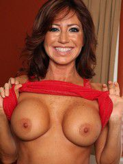 Freckled-Faced Brunette Woman Tara Holiday Boned H..