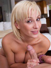 Naughty Blond Woman Lexi Swallow Gagging And Swall..