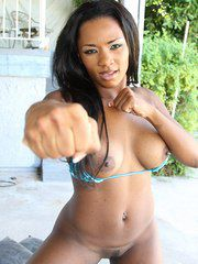 Tight And Sporty Black Bimbo Persia Banged Hard