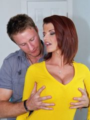 Naughty Redhead Woman Joslyn James Hammered Hard