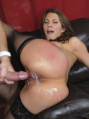 Lovely Woman Covered With Cum In The Ass