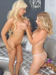 Blonde MILF Sucking Each Others Shakers