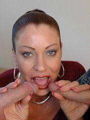 Slutty MILF Vanessa Videl Takes Two Man Meat