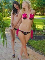 Charlotte Davis Get Steamy With A Girlfriend