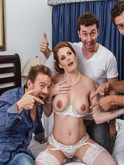 Gang Banged Newly Wed Redhead Babe