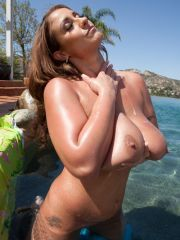 Chubby And Busty Whore Teasing Outdoors