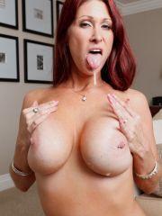 Redhead MILF Hottie Tiffany Mynx Cum Swallowing