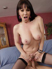 Raven-Haired MILF Bimbo Boned By A..