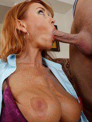 Sizzling Hot Redhead MILF Janet Mason Banged Hard