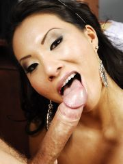 Seductive And Horny Looking Asian Giving Head