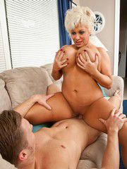 Dirty Old Woman Claudia Marie Banged..