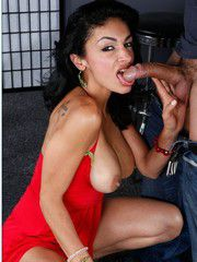 Black-haired MILF Persia Pele Tease And Jizzed