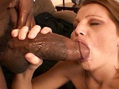 Sexy milf suck and doggystyle fucked massive cock