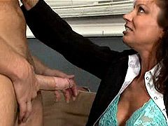 Sexy mature wife gets hard fucked on sofa and cum